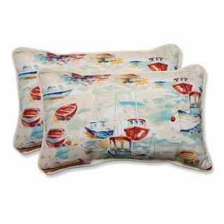 Pillow Perfect Outdoor/ Indoor Spinnaker Bay Sailor Rectangular Throw Pillow (Set of 2)