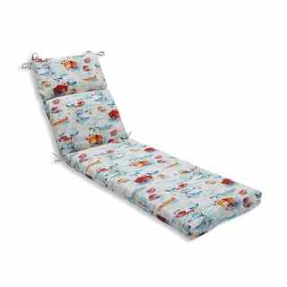 Pillow Perfect Outdoor/ Indoor Spinnaker Bay Sailor Chaise Lounge Cushion