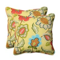 Pillow Perfect Outdoor/ Indoor Timmo Sunshine 18.5-inch Throw Pillow (Set of 2)