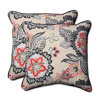 Pillow Perfect Outdoor/ Indoor Tilt & Twirl Ebony 18.5-inch Throw Pillow (Set of 2)