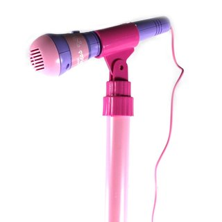 Super Star Princess Children's Toy Stand Up Microphone Play Set with Built In MP3 Player, Speaker, Adjustable Height - Pink