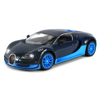 Licensed Bugatti Veyron 16.4 Super Sport Electric RC Car 1:16 Scale with Bright LED Lights, Working Suspension