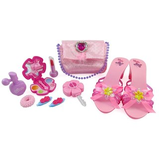 Little Princess Fasion Beauty Set for Girls with Pink Purse, Shoes and Accessories