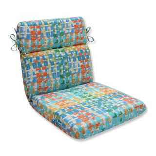 Pillow Perfect Outdoor/ Indoor Quibble Sunsplash Rounded Corners Chair Cushion