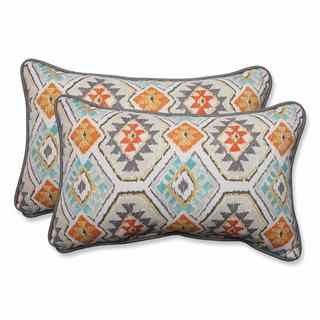 Pillow Perfect Outdoor/ Indoor Eresha Oasis Rectangular Throw Pillow (Set of 2)