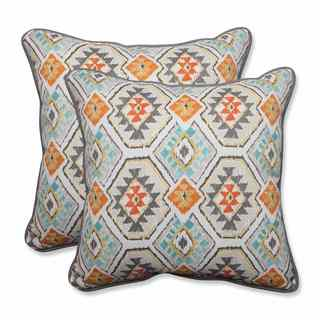 Pillow Perfect Outdoor/ Indoor Eresha Oasis 18.5-inch Throw Pillow (Set of 2)