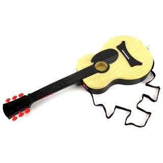 Classic Kid's Battery Operated Children Toy Guitar Instrument with Shoulder Strap, Steel Strings, Plays 15 Pre-Recorded Tunes