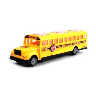 Deluxe Children's School Bus Battery Operated Bump and Go Toy Bus with Fun Sounds