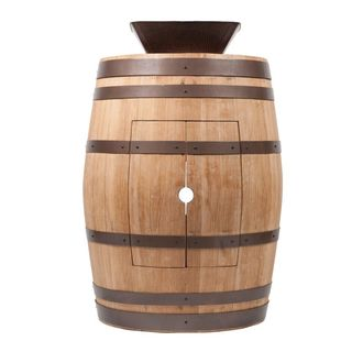 Premier Copper Products Wine Barrel Natural Finish Vanity Package with 14-inch Square Vessel Sink