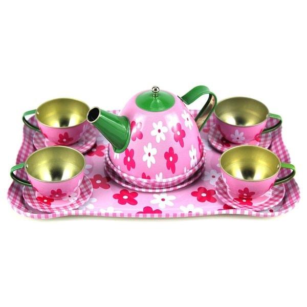 Children's Full Metal Pretend Play Toy Tea Set