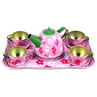 Children's Full Metal Pretend Play Toy Tea Set
