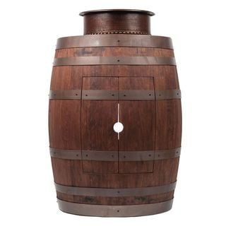 Premier Copper Products Wine Barrel Whiskey Finish Vanity Package with 15-inch Round Vessel Tub Sink
