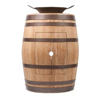 Premier Copper Products Wine Barrel Natural Finish Vanity Package with 16-inch Round Miners Pan Vessel Sink
