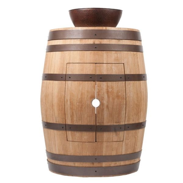 13 Inch Vessel Sink : ... Barrel Natural Finish Vanity Package with 13-inch Round Vessel Sink