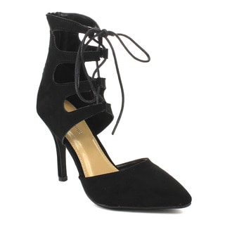 Beston Women's Stiletto Lace Up Pumps