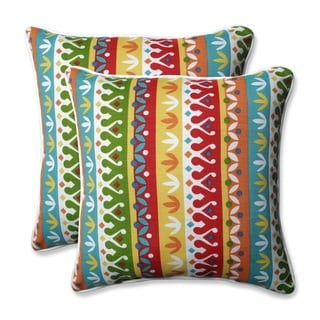Pillow Perfect Outdoor/ Indoor Cotrell 18.5-inch Throw Pillow (Set of 2)