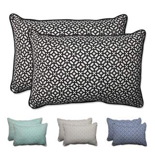 Pillow Perfect Outdoor/ Indoor In The Frame Over-sized Rectangular Throw Pillow (Set of 2)