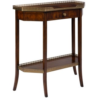 Safavieh Couture High Line Collection Leander European Beech/ Acacia Walnut Console Storage Table