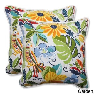 Pillow Perfect Outdoor/ Indoor Lensing 18.5-inch Throw Pillow (Set of 2)