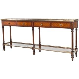Safavieh Couture High Line Collection Kyros European Beech/ Acacia Walnut Storage Sofa Table