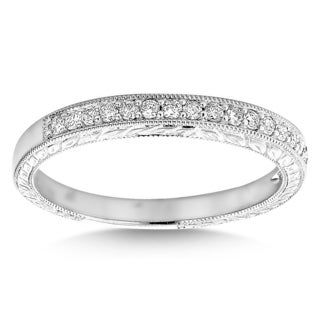 Luxurman 14k White Gold 3/8ct TDW Diamond Row Thin Band (G-H, VS1-VS2)