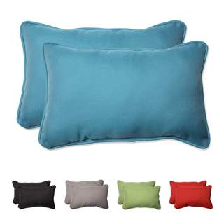 Pillow Perfect Outdoor/ Indoor Tweed Rectangular Throw Pillow (Set of 2)