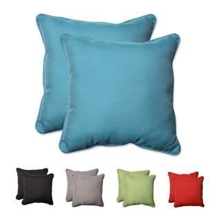 Pillow Perfect Outdoor/ Indoor Tweed 18.5-inch Throw Pillow (Set of 2)