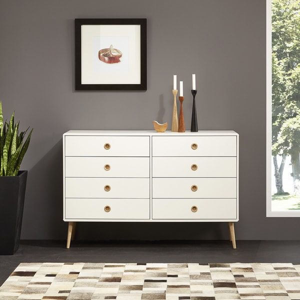Shop Softline Wide 8 Drawer Chest Free Shipping Today