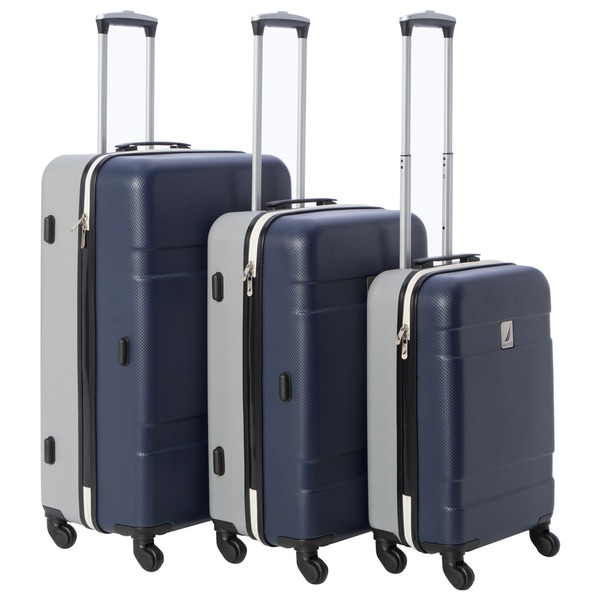 c883b2251016 Shop Nautica Port Harbour 3-piece Hardside Spinner Luggage Set ...