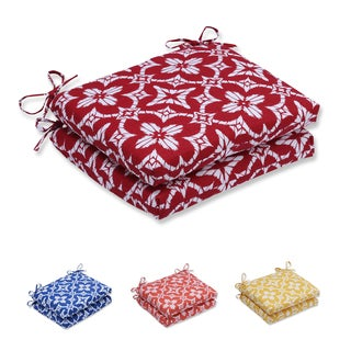 Pillow Perfect Outdoor/ Indoor Aspidoras Squared Corners Seat Cushion (Set of 2)