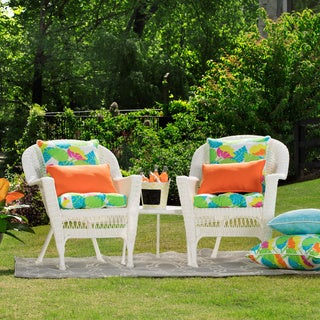 Pillow Perfect Outdoor/ Indoor Avia Wicker Seat Cushion (Set of 2)