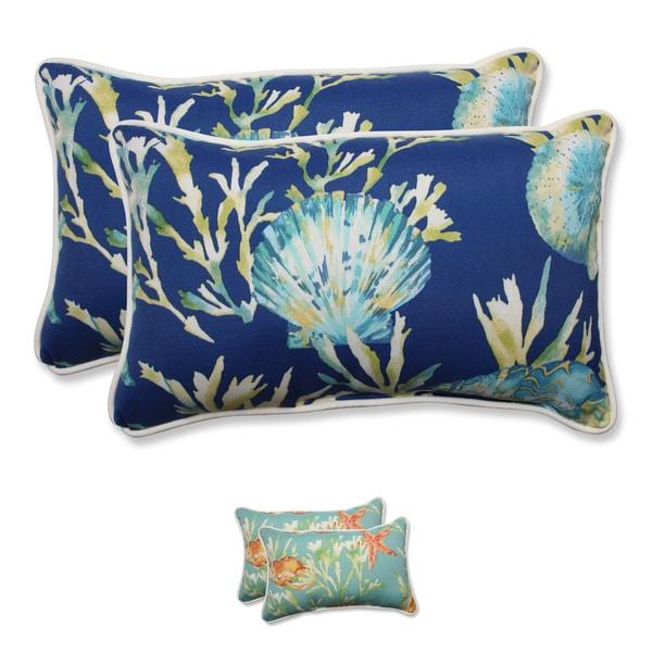 Pillow Perfect Outdoor/ Indoor Daytrip Rectangular Throw Pillow (Set of 2) - 18.5 x 11.5 x 5