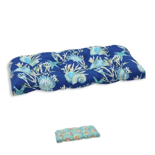 Pillow Perfect Outdoor/ Indoor Daytrip Wicker Loveseat Cushion
