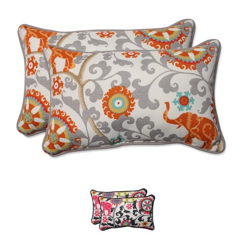 Pillow Perfect Outdoor/ Indoor Menagerie Rectangular Throw Pillow (Set of 2)