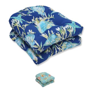 Pillow Perfect Outdoor/ Indoor Daytrip Wicker Seat Cushion (Set of 2)