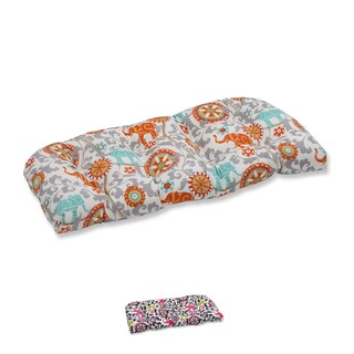 Pillow Perfect Outdoor/ Indoor Menagerie Wicker Loveseat Cushion