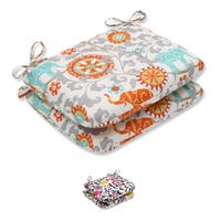 Pillow Perfect Outdoor/ Indoor Menagerie Rounded Corners Seat Cushion (Set of 2)