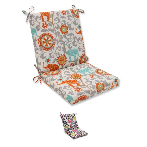 Pillow Perfect Outdoor/ Indoor Menagerie Squared Corners Chair Cushion