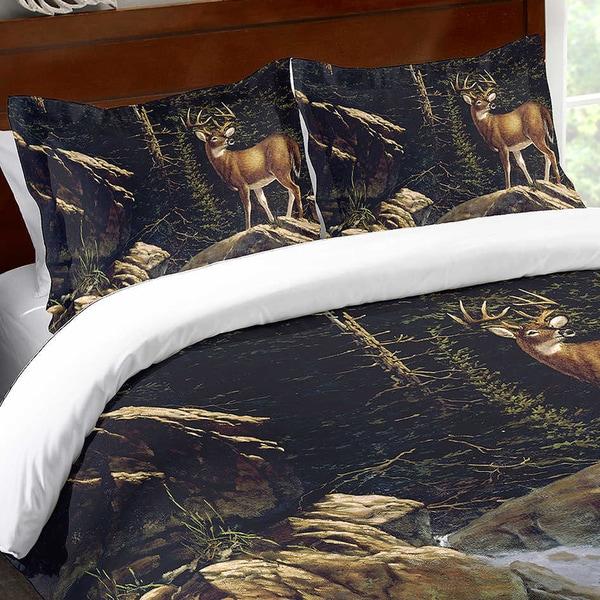 Deer Above the Falls Standard Sham