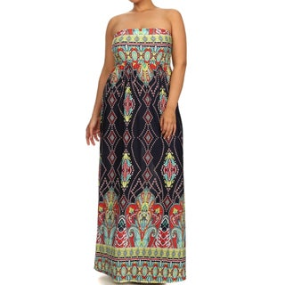 Moa Collection Women's Plus Size Black Maxi Dress