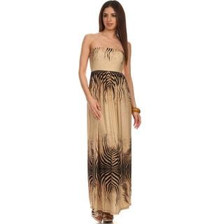 Moa Collection Women's Zebra Print Maxi Dress