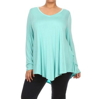 Moa Collection Women's Plus Size Solid Top