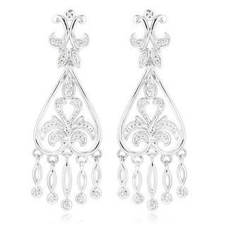Luxurman 14k Gold 2/5ct TDW Diamond Chandelier Earrings (H-I, SI1-SI2)