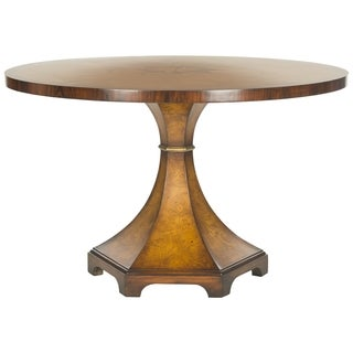 Safavieh Couture High Line Collection Oriel Acacia/ Ash Burl Walnut Round Center Table