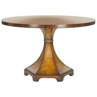 Safavieh Couture High Line Collection Oriel Acacia/ Ash Burl Walnut Round Center Table