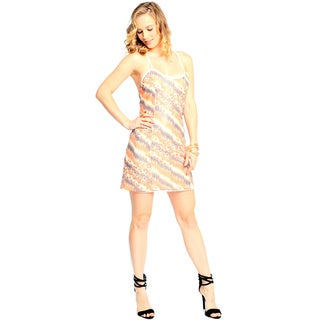 Sara Boo Women's Multi Colored Sequins Party Dress