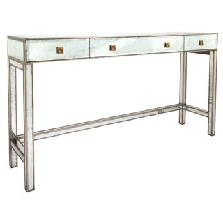 Safavieh Couture High Line Collection Madolyn Acacia Silver Leaf Eglomise Storage Console