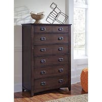 Signature Design by Ashley Strenton Brown Six Drawer Chest