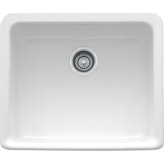 Franke MHK110-20WH Manor House White Drop In/Farmhouse Fireclay Kitchen Sink