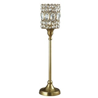 Heim Concept Sparkle Beaded Crystal T-Lite 17.5-inch Candle Stand